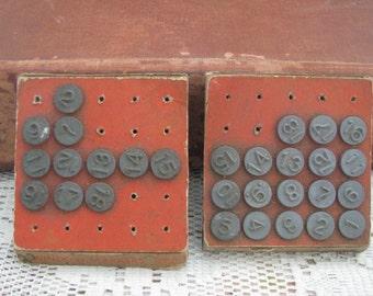 SALE Vintage Acro Numbering Tacks 2 Partial Sheets Bulletin Board Tacks Hardware