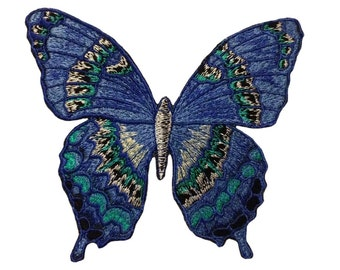 5 inches Embroidered Butterfly patch iron on embroidered butterflies patches iron on applique embroidery patterns iron on embroidery patch