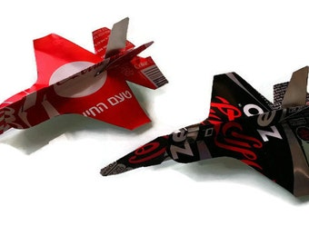 COCA COLA and ZERO handcraft F35 Plane Airplane Made from Real Recycled Aluminum Soda can art