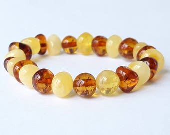Genuine amber bracelet baltic amber beads bracelet adults honey amber baby bracelet cognac amber bracelet amber jewelry gift idea