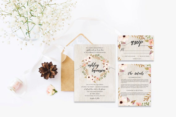 Flower wedding invite_33,Printable Wedding Invitation Suite,Wedding Invite Set,Wedding Printable,Calligraphy
