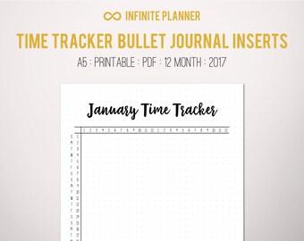 Time Tracker (2017) - Bullet Journal Printable