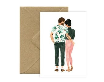 Card A6 - LOVE TATOO - hipsters