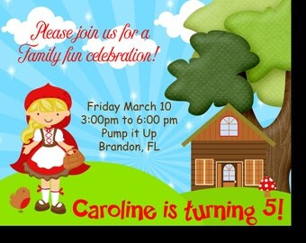 Little Red Riding Hood Birthday Invitation (Digital)