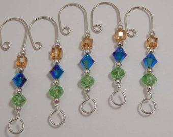 Ornament Hangers. Glass Bead Ornament Hangers. Christmas. Ornaments. Ornament Hangers