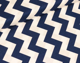Riley Blake fabric Chevron blue-white medium (13.90 EUR / meter)