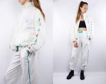Two piece Tracksuit / Sweat Suit /Le Coq Sportif / 90s Tracksuit / 90s Windbreaker / Vintage Windbreaker / Vintage Tracksuit / Track Suit