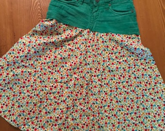 Green garden twirly skirt