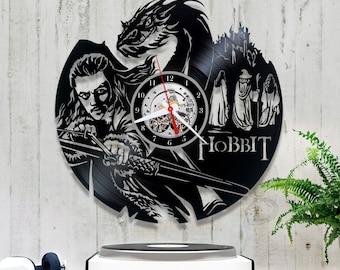Vinyl Record Clock Hobbit| Middle Earth Record Clock| Lp Clock 0/7/8| Vinyl Clock| Wall Record Clock| Original Gift| Wall Vinyl Clock