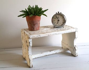 Amazing kitchen step / window bench with great patina!
