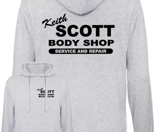 Keith Scott funny tv show one costume body shop tree vintage hill retro Hooded Sweatshirt
