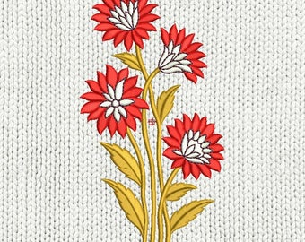 Flowers Machine Embroidery Design ,instant download file