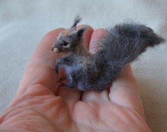 Ooak Miniature Grey Squirrel by Malga