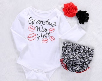 Girls clothing, onsie grandparents, Baby leggings and headband, newborn girl outfit, newborn girl photo outfit, onesie grandparents, outfit