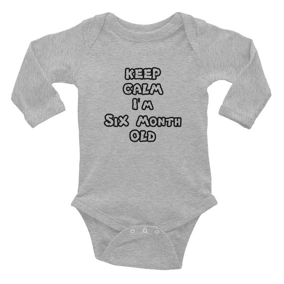 Six month onesies, New born Baby body suit, LongSleeve Baby Rib, Infant Baby Rib, Unique Baby Rib, Custom outfit Personalized Bodysuit gift