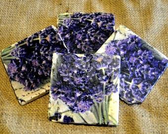 Lavender Natural Stone Coaster