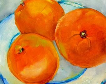 oranges//orange still life//Room for Three//kitchen art