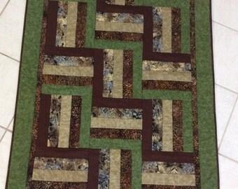 Throw quilt, handmade