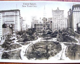 Near MINT c. 1915 New York City, Birdseye view of Union Square Park ~ Real Photo Postcard