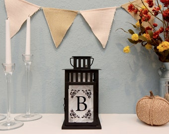 Personalized Metal Lantern / Monogram Lantern / Home Decor