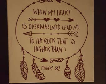 Psalms 6:2 Dream Catcher Decorative Tile