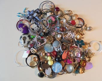 Large Lot Of Earrings For Crafts