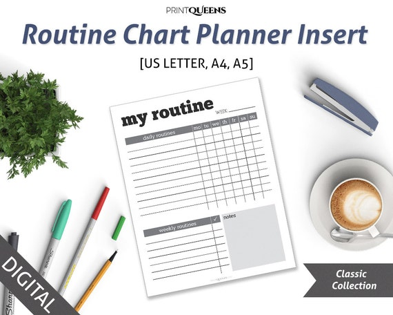 habit tracker printable planner pages chore chart chores tracker
