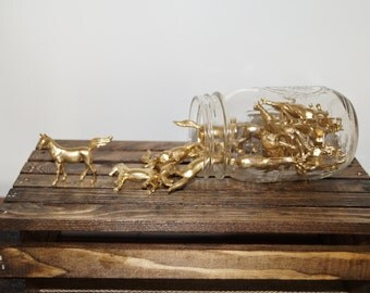 Gold Horse Center Piece, Set of 20, Wedding Decorations, Southern wedding