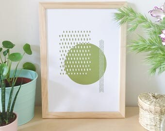 Poster, illustration, graphic, green art, decorating idea, home decor, graphic poster, poster, Scandinavian, modern, poster design, summer