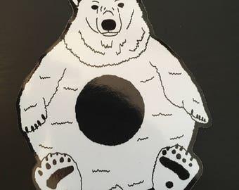 Polo Bear Sticker - 10cm