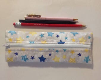 Pencil case, crayon bag, toddler gift, back to school, zipper bag, school supplies