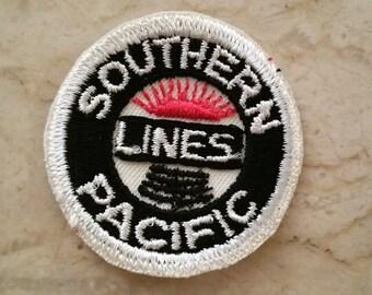 1970s Vintage southern pacific lines Railroad Patch train patch embroidered unique rail line