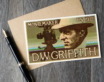 D W Griffith, David Griffith, movie gifts, movie buff gifts, movie gifts, cinema gifts, actor gifts, director gifts, movie birthday cards