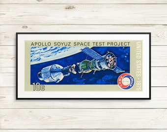 Soyuz Apollo, kid birthday space gifts, vintage NASA poster art, vintage space wall decor, complete NASA poster set, kids room space decor