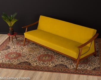 60s sofa, couch, 50s, vintage, mustard (702050)