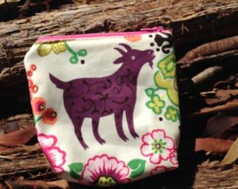 coin purse, coin pouch, goat purse, alexander henry