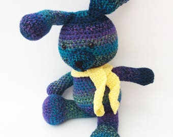 Knitted Amigurumi Speckled Bunny Rabbit