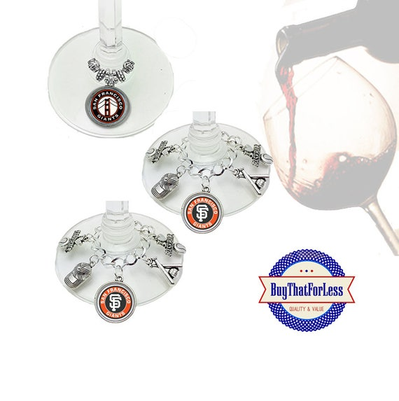 SAN FRANCISCO Wine or Bottle Charms, Napkin Rings, Set of 6, U Choose Style +FREE SHiPPiNG & Discounts