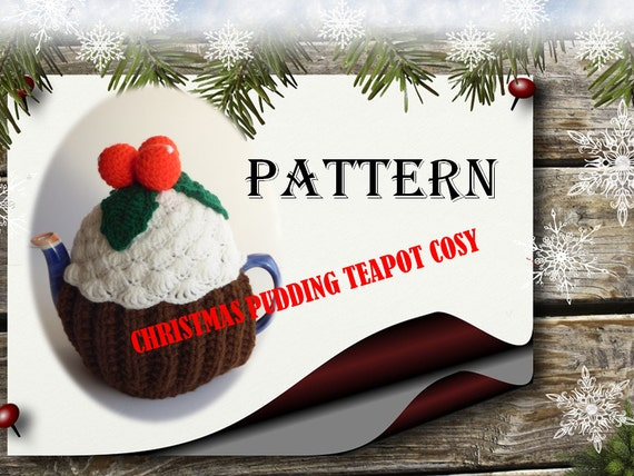 Pattern For Christmas Pudding Teapot Cosy Christmas Decoration