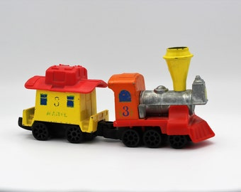 1980's Mattel Preschool My First Wheel Train and Caboose