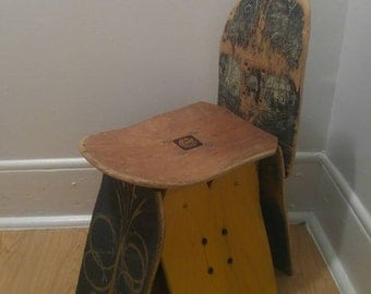 Repurposed/Upcycled Skateboard Chair