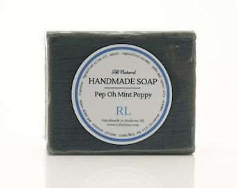 Handmade Pep Oh Mint Poppy Artisan Bar Soap