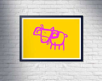 PINK GOAT poster - Limited Edition, unframed A1 poster