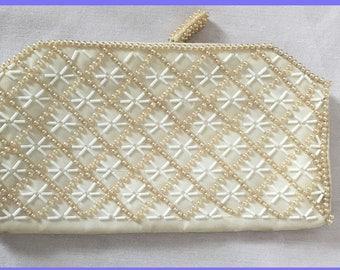 Vintage Beaded Bag: La Regale Products Japan/Clutch/Beaded Purse/Evening Bag
