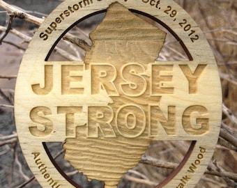 Seaside Heights Boardwalk Jersey Strong Ornament