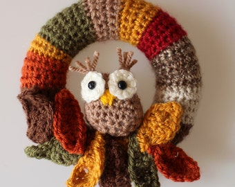Autumn Owl Mini Wreath