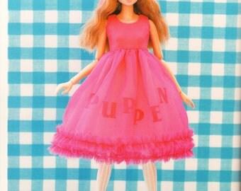 Momoko Doll E Pattern Japanese PDF Dress Tights