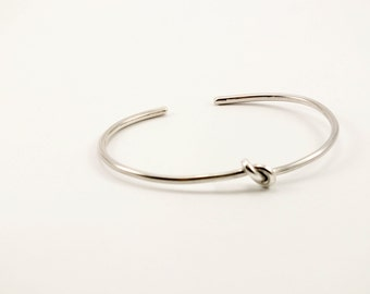 Knot Sterling Silver  Bangle