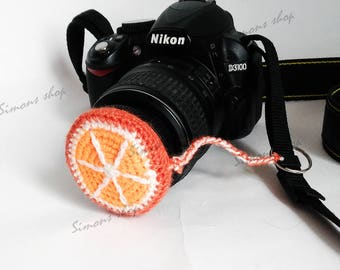 Lens cover for camera lens Photography Accessories Photographer Gifts camera lens cap lens cap leash  photo accessories Fruit orange
