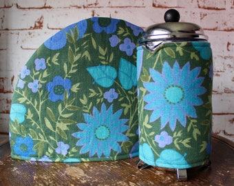 Vintage Tea & Coffee Cosy Set - Floral Tea Cosy - Floral Coffee Cozy - Vintage Home Gift - Retro Gift Set - Vintage Homeware -